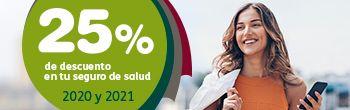 25% de descuento en tu seguro médico de reembolso